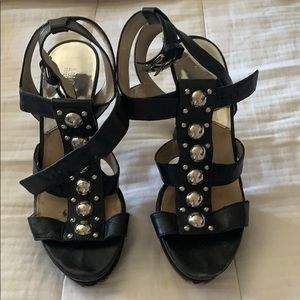 Michael Kors Black Strappy Heels